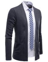 NEARKIN Mens Long Sleeve Open Front Lightweight Knit Cardigan Sweaters