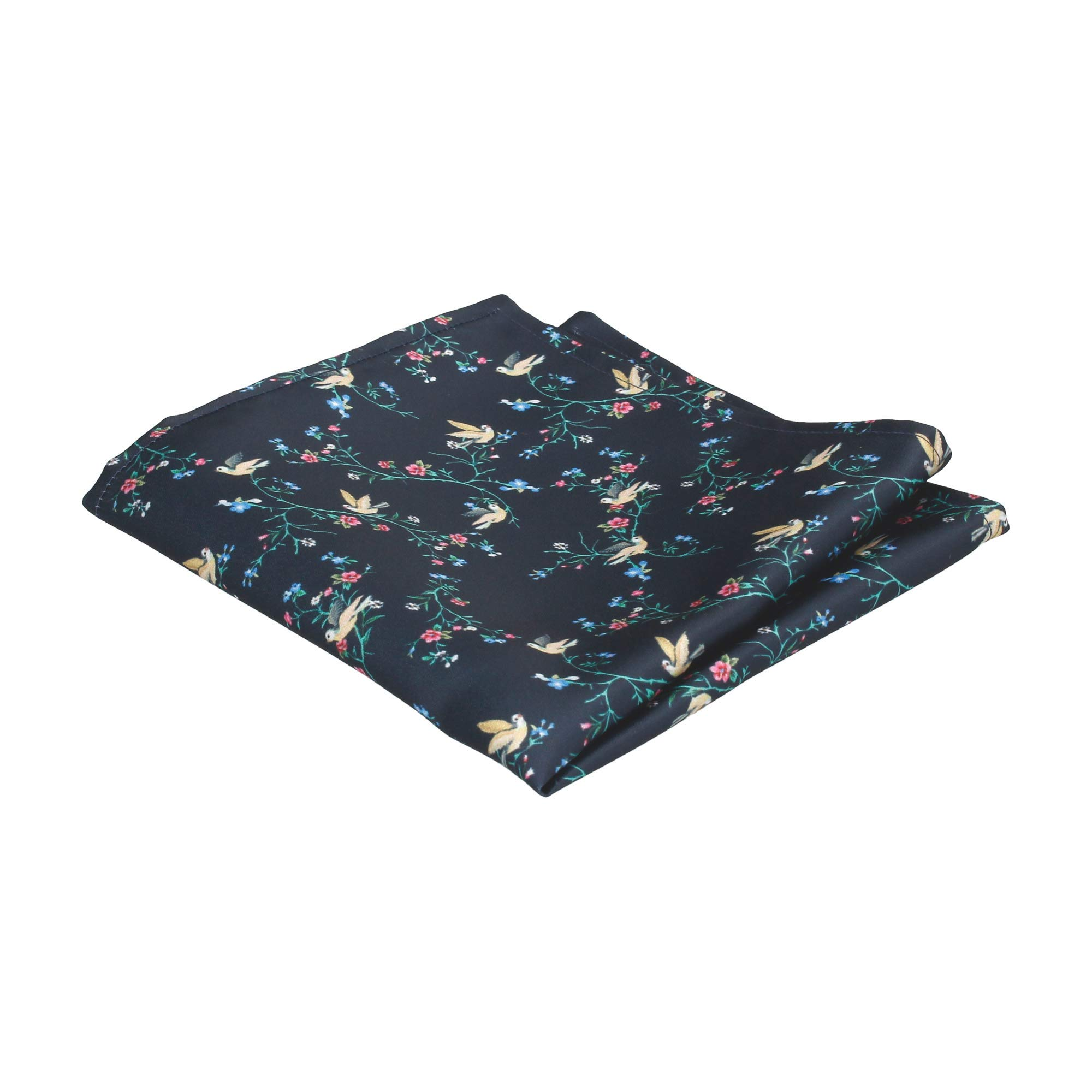 Mrs Bow Tie Chinoiserie Floral Pocket Square, Handkerchief