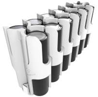 East Brooklyn Labs Durable AA Battery Storage Caddy Can Hold Up to 12 Batteries Compatible with The Radcad Charger