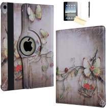JYtrend Case for iPad Pro 11 Inch 2018, [Support Pencil Charging] Rotating Stand Smart Case Magnetic Auto Wake Up/Sleep Cover for iPad Pro 11 Model A2013 A1980 A1979 A1934 (Butterfly Flower)