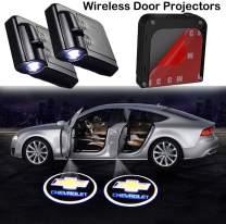 Bearfire Car Door Lights Logo 2PCS Car Door Projector Light Led Welcome Lights Car logo Suitable For All Models (Fit Chevrolet)