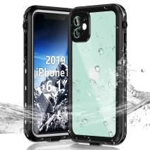 Janazan iPhone 11 Waterproof Case, Full Sealed Underwater Protective Cover, Waterproof Shockproof Snowproof Dirtproof with Built-in Screen Protector for iPhone 11 6.1 inch 2019 (Black)