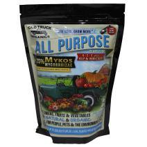 All Purpose 5-2-3 Organic Fertilizer with MYKOS Mycorrhizae, 2.2 Pound Bag