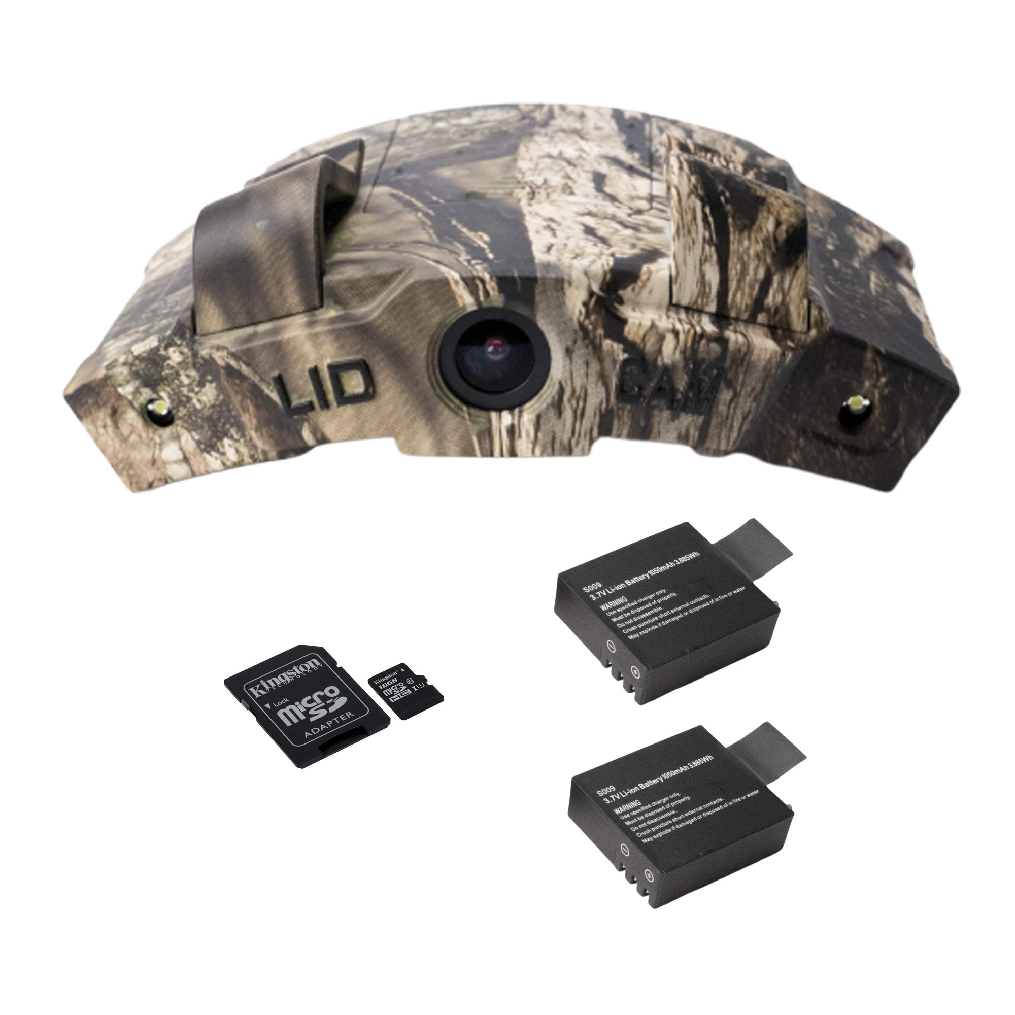 LiDCAM LC-WF Hands Free Digital Camouflage Action Camera with 16gb microSD Card and Extra Battery, 1080P HD Wi-Fi with Full Audio