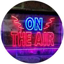 "ADVPRO On Air Studio Recording in Progress Dual Color LED Neon Sign Blue & Red 12"" x 8.5"" st6s32-i2066-br"