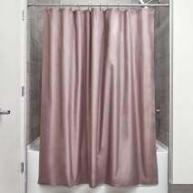 iDesign Mildew-Free Water-Repellent Fabric Shower Curtain, 72-Inch by 72-Inch, Dark Taupe