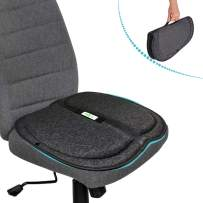 Big Ant Gel Seat Cushion, Memory Foam Chair Pads with Neoprene Waterproof Non-Slip Cover, Gel Cushion for Pressure Pain Relief, Breathable Cushions for Car Seat Office Chair Wheelchair(Gray)