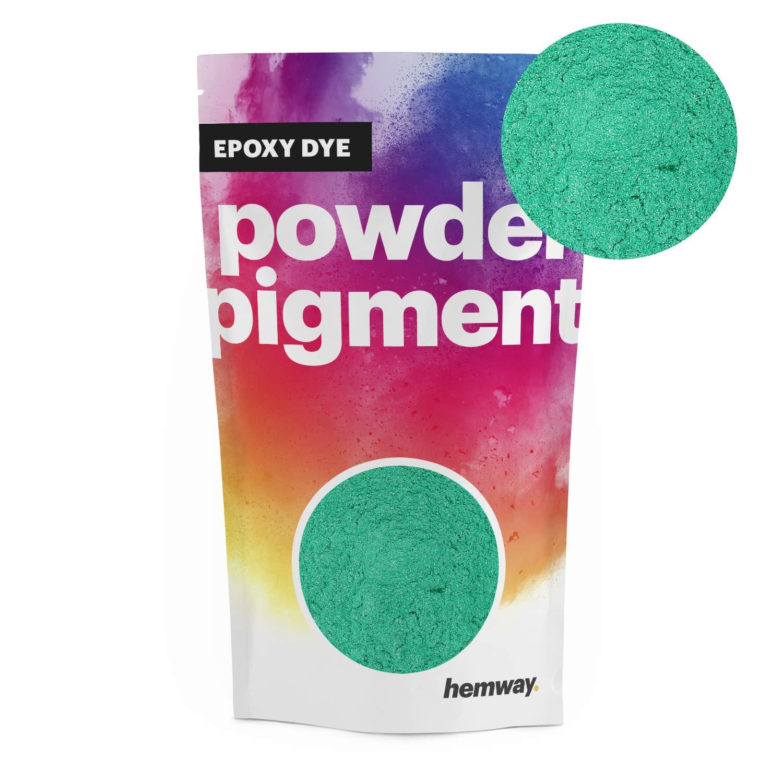 Hemway Pigment Powder Colour Luxury Ultra-Sparkle Dye Metallic Pigments for Epoxy Resin, Polyurethane Paint (Metallic Jade Green, 100g / 3.5oz)
