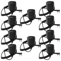Retevis 2 Pin Speaker Mic Walkie Talkies Micpnone for Arcshell AR-5 AR-6 Baofeng UV-5R BF-888S Retevis H-777 RT21 RT22 RT27 Two Way Radios (10 Packs)