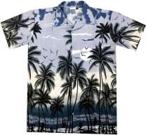 Virgin Crafts Hawaiian Shirt for Men Boys Women Short Sleeve Beach Aloha Summer