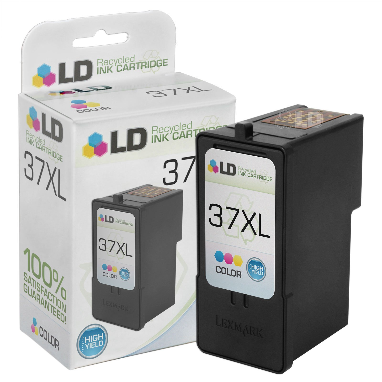 LD Remanufactured Toner Cartridge Replacement for Lexmark 37XL 18C2180 High Yield (Color)