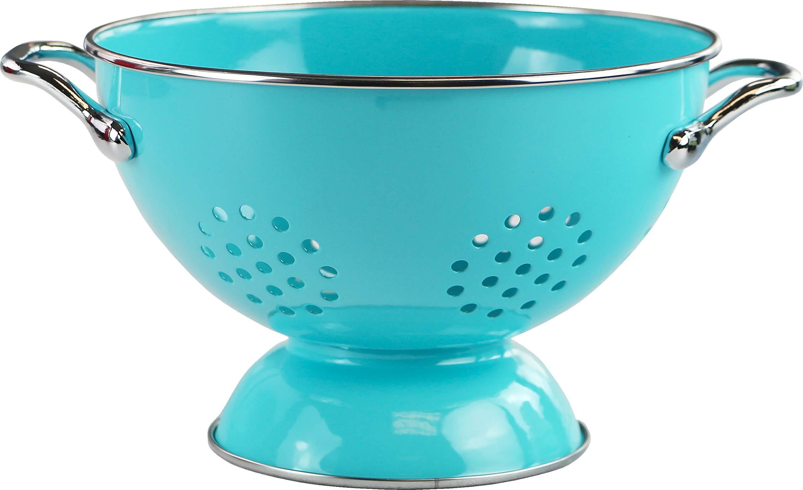Calypso Basics by Reston Lloyd Powder Coated Enameled Colander, 1.5 Quart, Turquoise