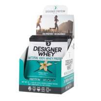 Designer Protein Whey Single Serve Pack Powder, French Vanilla, 12 Count