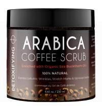 O Naturals Anti-Cellulite Exfoliating Organic Coffee Arabica, Dead Sea Salt Scrub. For Face Body & Legs. Best Acne, Eczema Stretch Marks Wrinkles & Varicose Veins Treatment. Boosts Circulation. 8.45oz