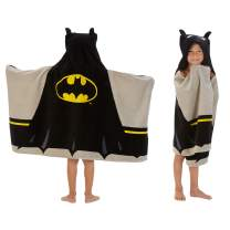 "Franco Kids Bath and Beach Soft Cotton Terry Hooded Towel Wrap, 24"" x 50"", Batman"
