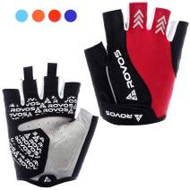 ROVOS Women's Cycling Gloves Bike Gloves Mountain Bike Gloves Half Finger Road Riding Gloves Anti Slip Shock Absorbing Biking Gloves for Women