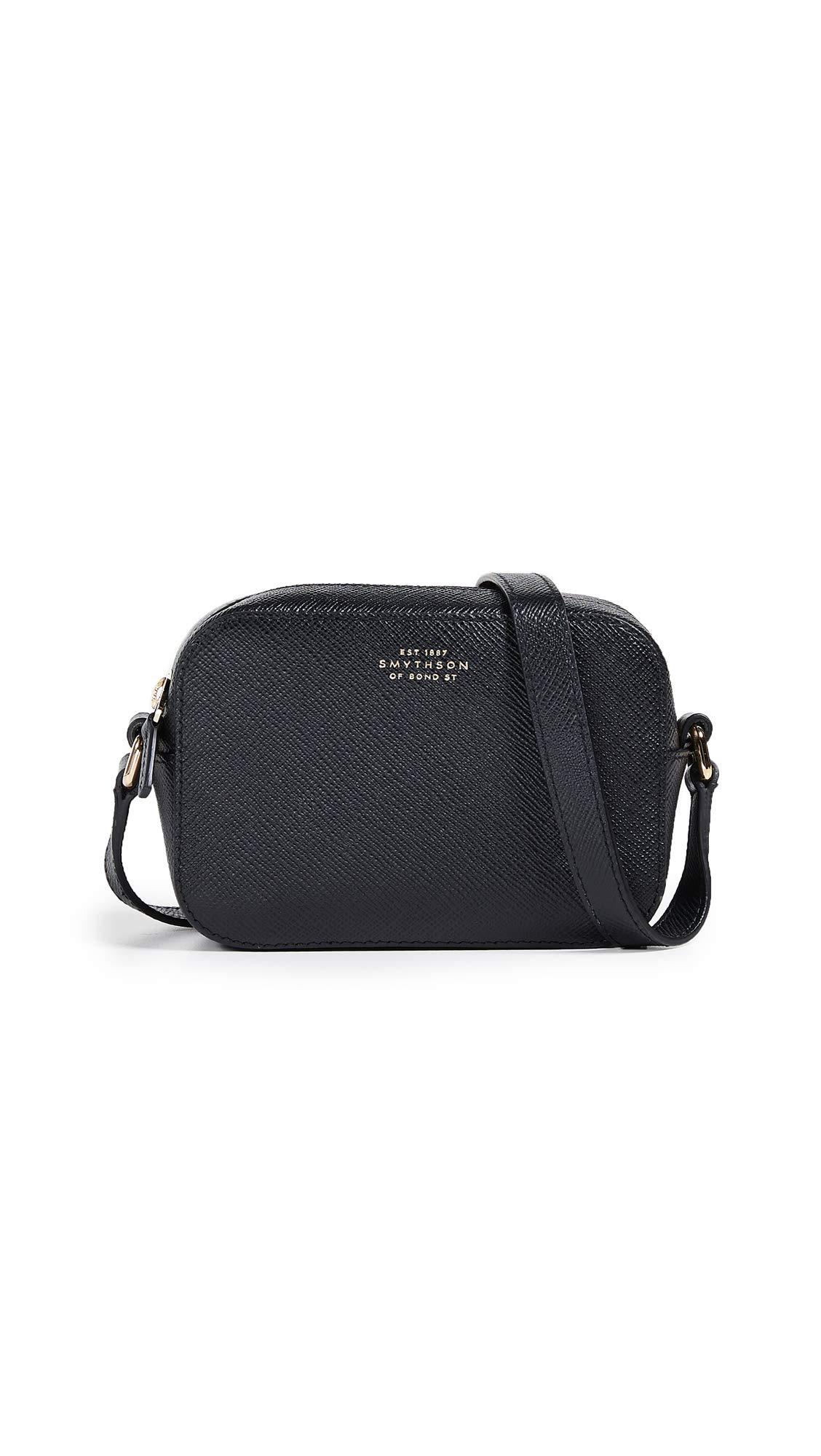 Smythson Women's Panama Mini Camera Bag with Leather Strap