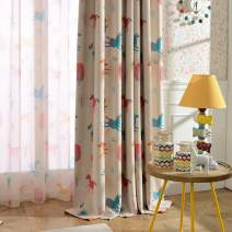 """Melodieux Cartoon Pony Room Darkening Blackout Grommet Top Curtain Drapes for Children Room, 52"""" W x 84"""" L, 1 Panel"""