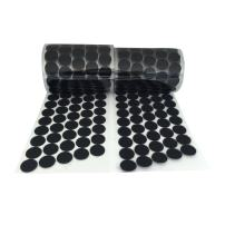 Vkey 720pcs Adhesive (360 Pair Sets) 0.59in Diameter Sticky Back Coins Hook & Loop Self Adhesive Dots Tapes (15mm D Black)