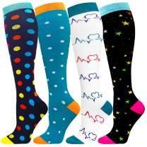 Compression Socks Women & Men 20-30 mmHg -Best Nurse Travel & Flight Socks-Running & Fitness