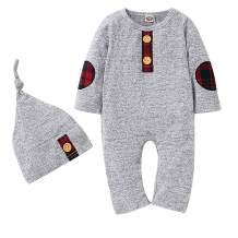 Newborn Baby Boy Romper Long Sleeve Infant Knit Jumpsuit One-Piece Outfit Clothes