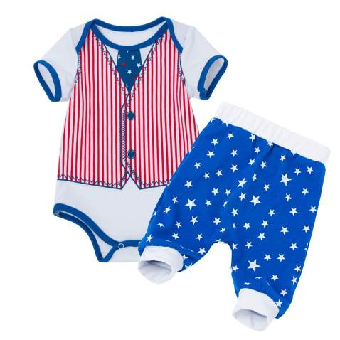 My First 4th of July Baby Boys Outfits American Flag Romper Shorts Summer Clothes Set Independence Day Costume 2PCS