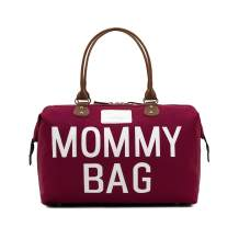 CHQEL Baby Diaper Bag Mommy Bags for Hospital & Functional Large Baby Diaper Travel Bag for Baby Care (Maroon)