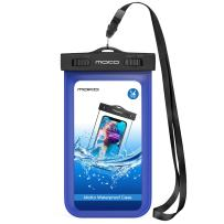 MoKo Waterproof Phone Pouch, Underwater Cellphone Case Dry Bag with Lanyard Armband Compatible with iPhone 11/11 Pro Max, X/Xs/Xr/Xs Max, 8/7/6 Plus, Galaxy S10/S9/S8 Plus, S10e, S20, Note 10, White