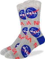 Good Luck Sock Men's Extra Large Nasa Socks, Size 13-17, Big & Tall