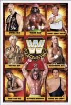 "Trends International WWE: Legends - Group 17, 22.375"" x 34"", White Framed Version"