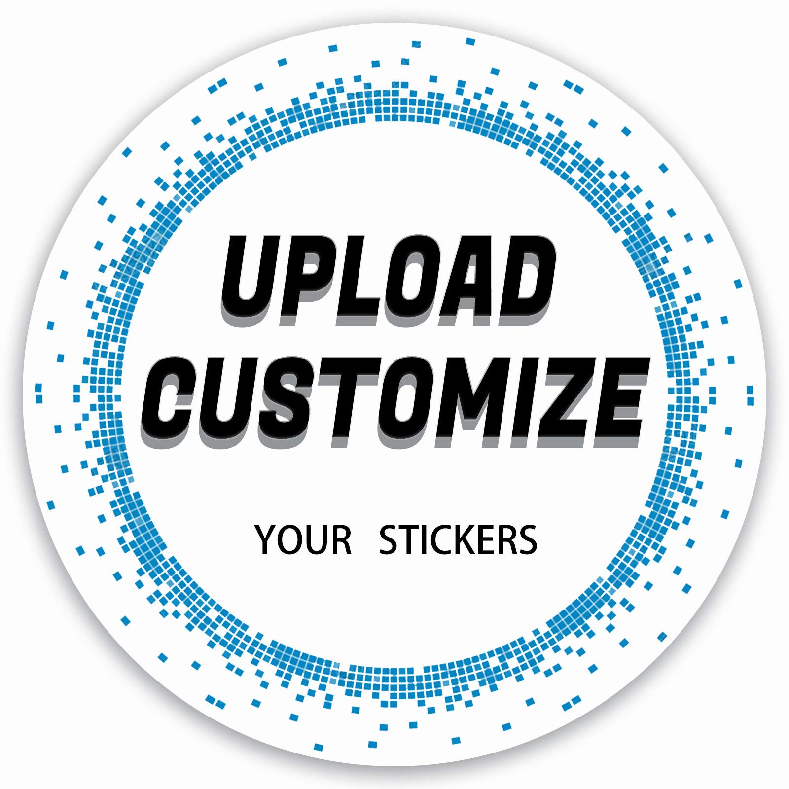Custom Stickers 60pcs Pack Circle Waterproof Fading Resistance Vinyl Personalized Stickers Labels for Car Bumper Wedding Name Logo Wall Decal 2.5x2.5 inch