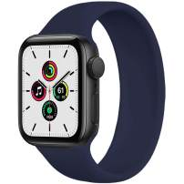 WAAILU Solo Loop Band Compatible with Apple Watch SE Series 6 Bands 38mm 40mm 42mm 44mm, No Clasps or Buckles, Stretchable Soft Silicone, Compatible for iWatch Series 5/4/3/2/1-(Deep Navy-38/40-9)