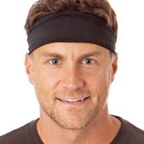 Hipsy Xflex Basic Adjustable & Stretchy Wide Sports Headbands for Men