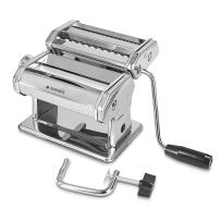 Navaris Pasta Maker - Manual Pasta Machine Noodle Roller Cutter Steel Hand Crank Pasta Roll for Lasagna, Fettuccini, Spaghetti, Ravioli