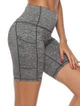 jonivey Yoga Shorts Yoga Capri Leggings High Waist Pocket Workout Running Non See-Through Cropped Yoga Pants for Petite