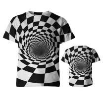 QoGoer Boys Girls 3D Graphic Novelty Kids T-Shirt Crewneck Short Sleeve Tees for 6-18 Years Teens