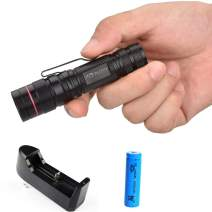 Mini LED Flashlight XPG-R2 600 Lumen Water Resistant Camping mini Pen Light Torch Zoom 3 Modes with 1000mAh battery