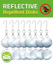 De-Bird: Repellent Disks - Bird Proof Your House & Garden with Hanging Bird Deterrent Reflectors -8 Pack Set