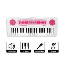 SAOCOOL Kids Piano, 37 Keys Piano Keyboard Multifunction Electronic Organ Musical Kids Piano Teaching Keyboard for Boys and Grils (Pink)