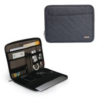 Q-smile 11-12 Inch Laptop Tablet Sleeve Case Electronics Organizer Sleeve Travel Gadget Bag for Cables Cord Water-Proof Electronics Accessories Storage Bag Cover for iPad, Cell Phone, Tablet, MacBook
