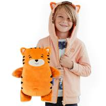Cubcoats Tomo The Tiger - 2-in-1 Transforming Hoodie and Soft Plushie - Orange