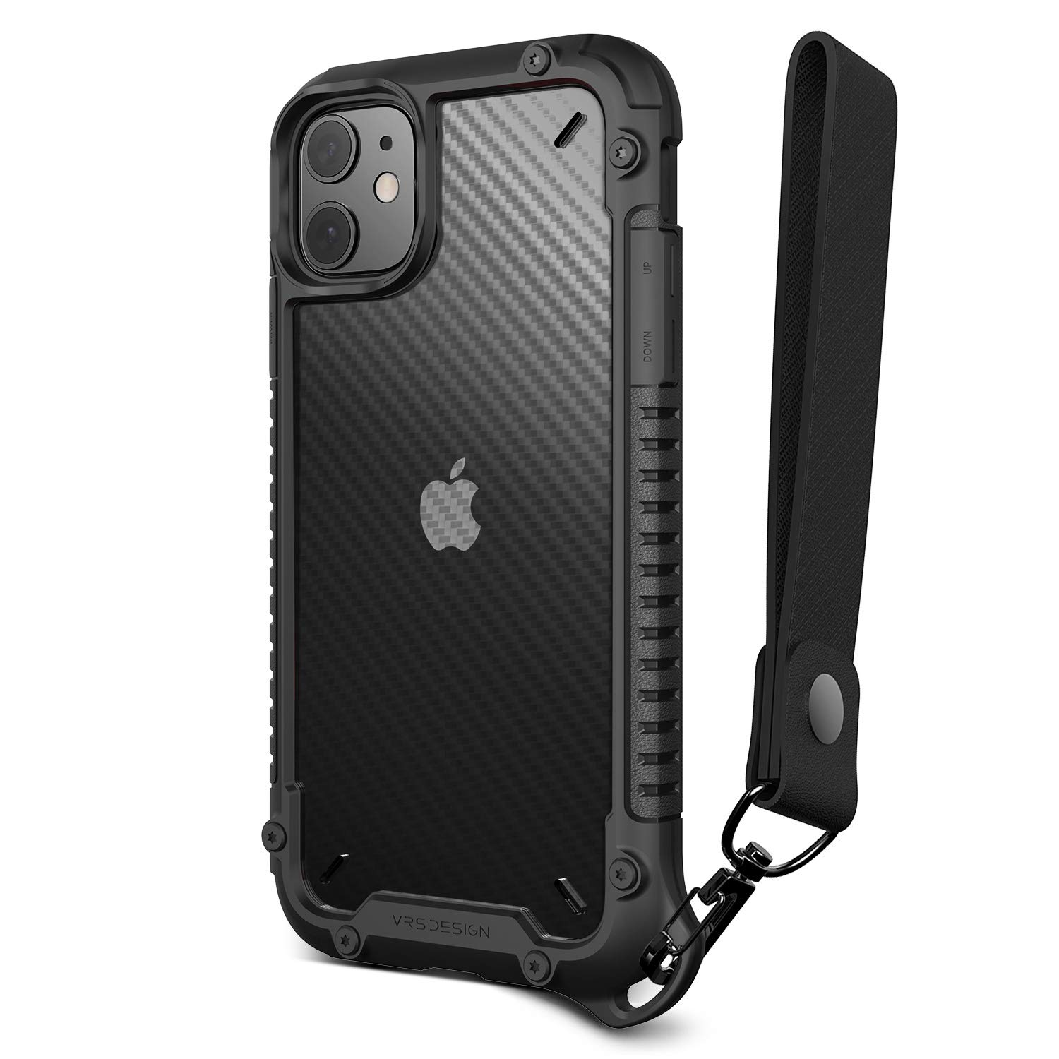 VRS DESIGN Damda Crystal Mixx Pro Compatible for iPhone 11 Case, with Wrist Strap for iPhone 11 6.1 inch (2019)