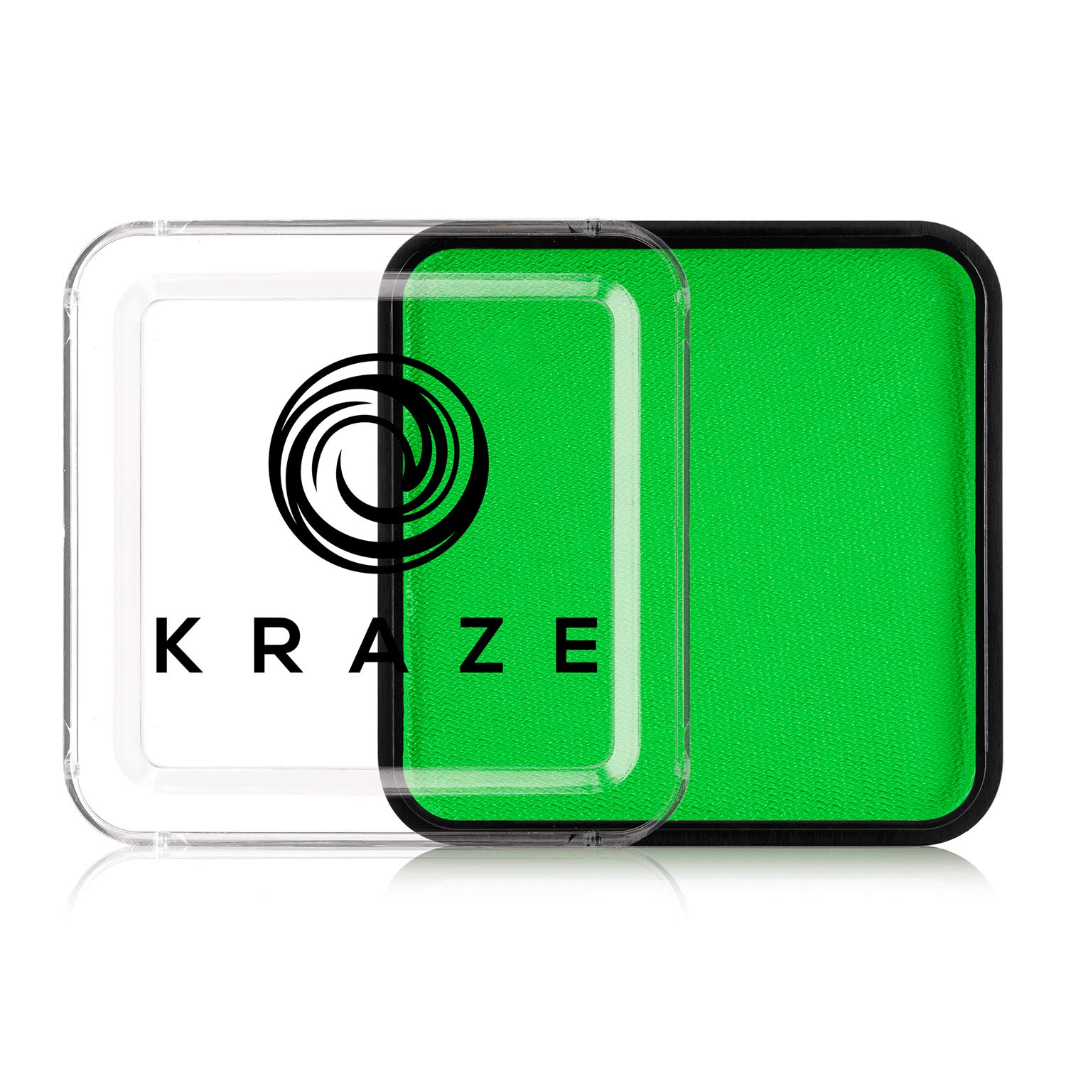 Kraze FX Square - Neon Green (25 gm) - Water Activated, Professional UV Glow Blacklight Reactive Face Painting Colors, Hypoallergenic, Safe, Washable Fluorescent Face & Body Paint