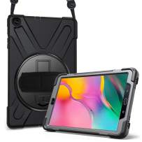 ProCase Galaxy Tab A 10.1 2019 Case T510 T515 T517, Rugged Heavy Duty Shockproof Rotating Kickstand Protective Cover Case for 10.1 Inch Galaxy Tab A Tablet SM-T510 SM-T515 SM-T517 2019 Release –Black