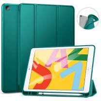 Ztotop Case for iPad 7th Generation 10.2 Inch 2019, Full Body Protective Rugged Shockproof Case with Pencil Holder, Trifold Stand with Auto Sleep/Wake Smart Case Cover for iPad 10.2 2019 - Green
