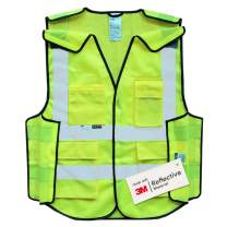 Salzmann 3M Multi-Pocket Safety Mesh Vest | High Visibility Reflective Mesh 5-Point Breakaway Vest | Made with 3M Reflective Material | Meets ANSI/ISEA107