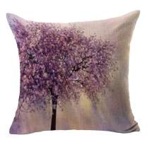 """LYN Cotton Linen Square Throw Pillow Case Decorative Cushion Cover Pillowcase for Sofa 18""""X 18"""" Tree Pillow Covers"""