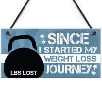 "Meijiafei Weight Loss Journey Tracker Chalkboard Sign Diet Weight Loss Slimming World Weight Loss Motivation Gifts 10"" X 5"""
