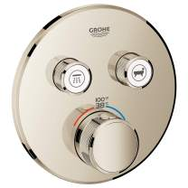 GROHE 29137BE0 Grohtherm SmartControl Dual Function Thermostatic Trim with Control Module, Polished Nickel