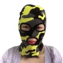 3 Hole Women' s Knit Winter Balaclava Camouflage Adult Knit Ski Mask Men Knit Face Cover